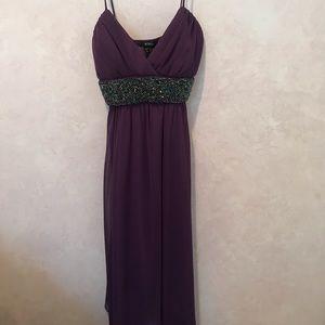 Purple beaded XOXO dress